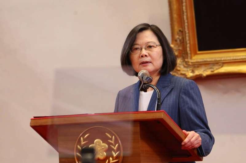 20200508-總統蔡英文(見圖)8日宣布行政院長蘇貞昌將續任閣揆。(顏麟宇攝)