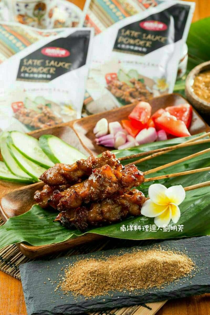 沙嗲雞肉串(圖/劉明芳提供)