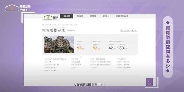 從「實價登錄比價王」中,可以得到房屋的歷史資訊。(圖/取自Youtube《實價登錄比價王》)