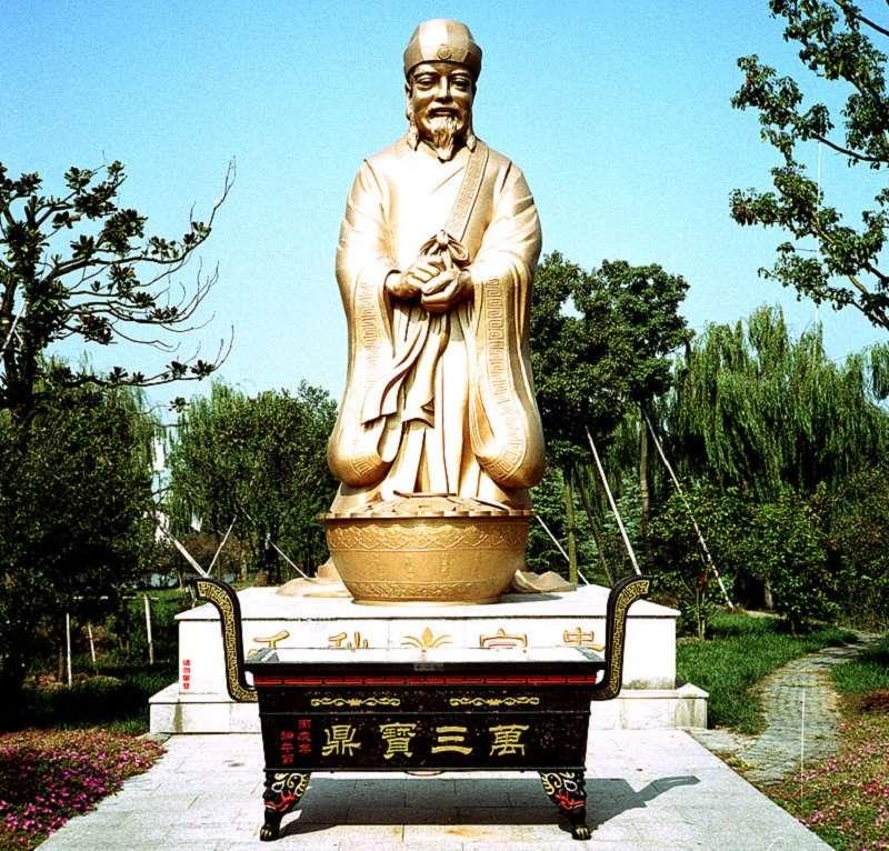 沈萬三和他的聚寶盆。(取自Gisling in Zhouzhuang∕維基百科)