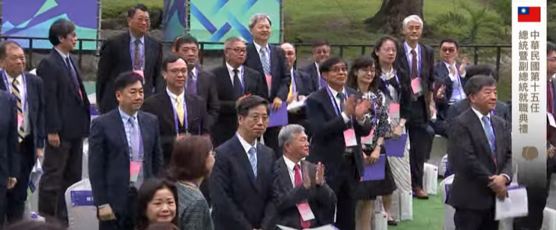20200520-總統蔡英文20日在就職演說中,特別點名口罩國家隊及防疫英雄表達感謝。(取自總統府直播影片)