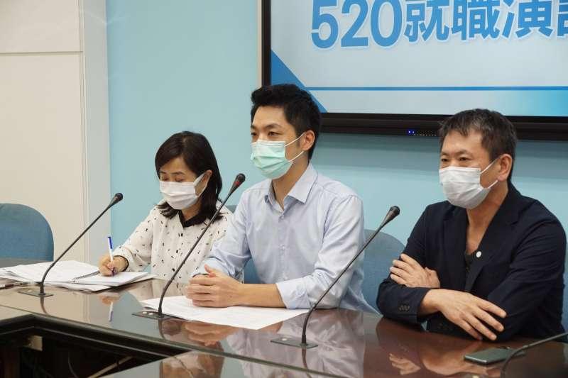 20200520-國民黨團20日召開記者會回應蔡總統520就職演說,立委蔣萬安發言。(盧逸峰攝)