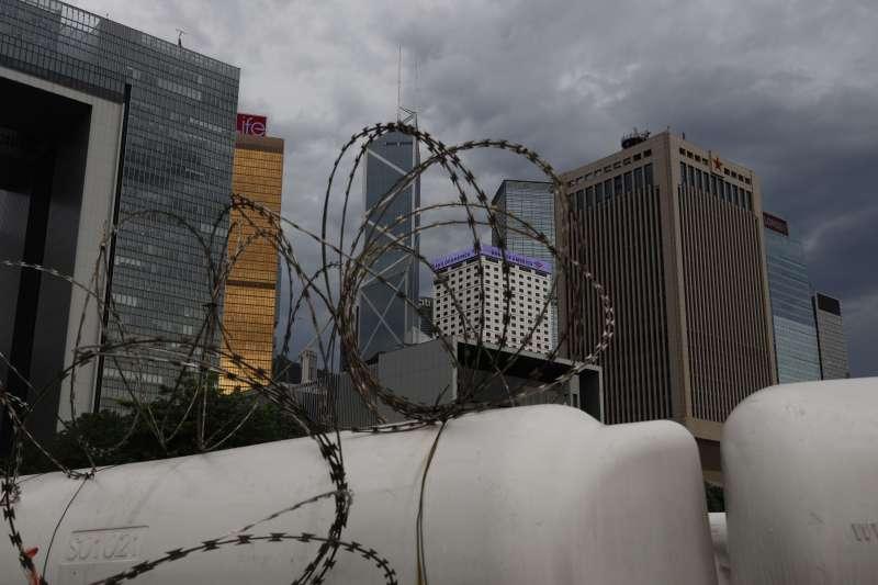 2020年5月,中國強推「港版國安法」,圖為解放軍香港營區(AP)