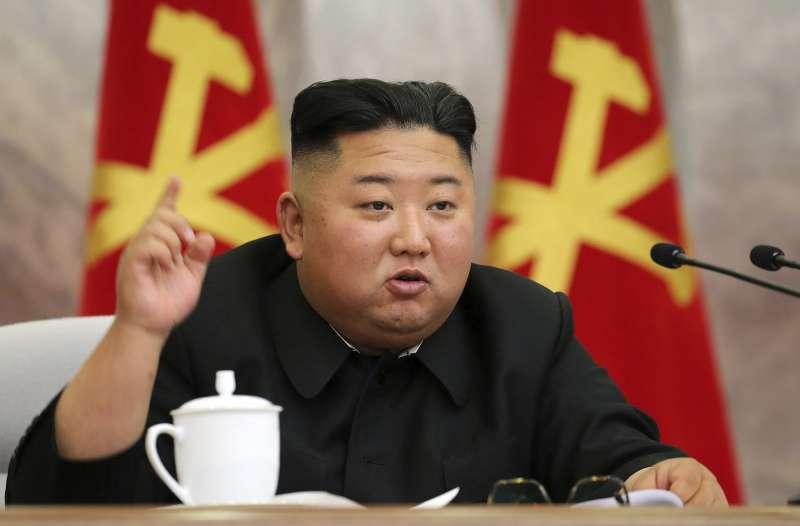 2020年5月24日,北韓(朝鮮)官媒《朝中社》報導最高領導人金正恩主持召開勞動黨第七屆中央軍委會第四次擴大會議(AP)