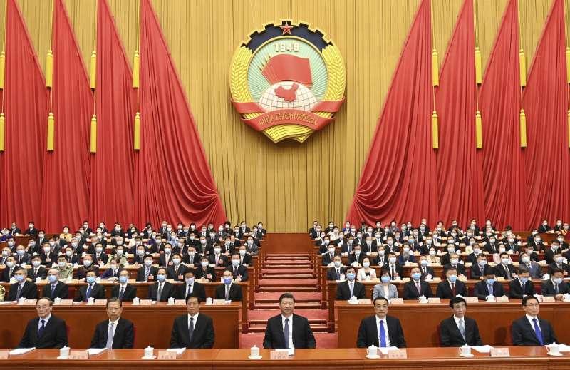 2020年中國兩會。5月21日,中國政協13屆三次會議開幕,習近平出席會議。(AP)