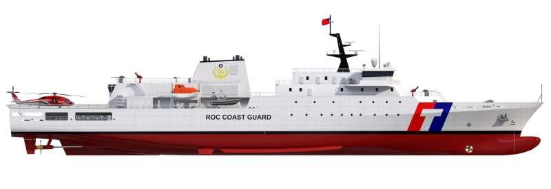 20200525-海巡署4000噸級巡防艦示意圖。(海巡署提供)