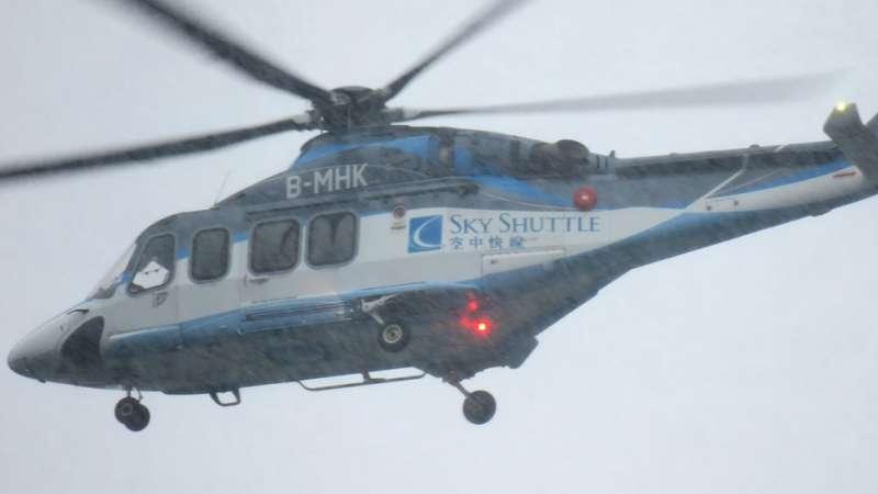 5利用直升機服務來往港澳只需15分鐘。(圖/BBC News)