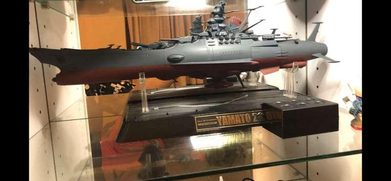吳宗憲蒐藏的宇宙戰艦大和號模型。(吳宗憲提供)