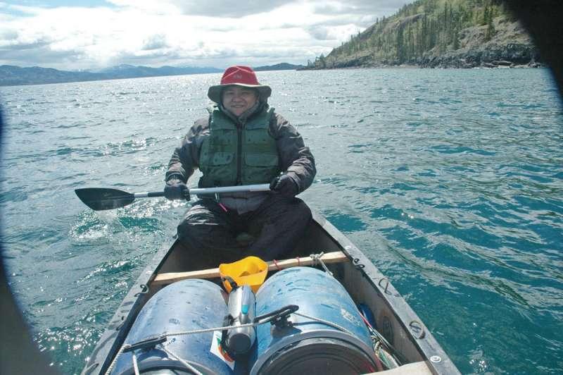到極地育空河划船,讓吳宗憲體悟到不要為升遷鬥來鬥去。(吳宗憲提供)