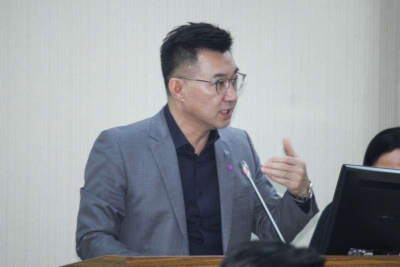 20200527-立委江啟臣出席立院國防外交司法法制委員會質詢。(蔡親傑攝)