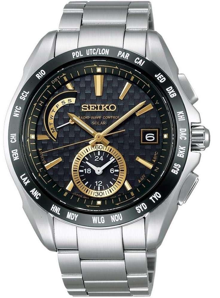 這款錶6點鐘方向的錶盤有完整的時分針,可單獨設置另一地的時間。(圖/Seiko官網)