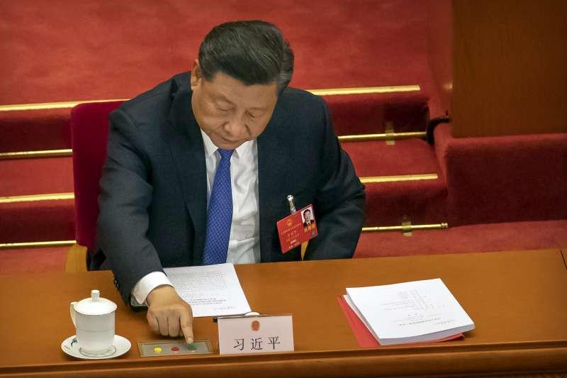 香港國安法:作為內蒙古人大代表的中國國家主席習近平投下贊成票(AP)