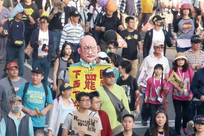 6月6日登場的罷韓投票,成為台灣地方自治史上首位直轄市長罷免案例。(柯承惠攝)