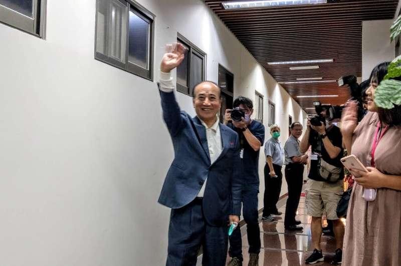 20200603-前立法院長王金平3日上午現身立院鎮江會館。(潘維庭攝)