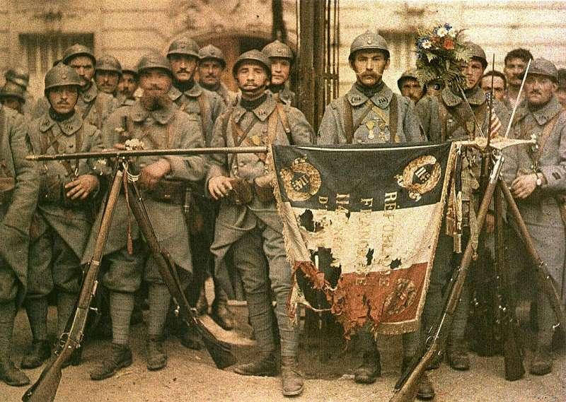 在第一次世界大戰中,法國是協約國中傷亡人數最多的國家。(維基百科)