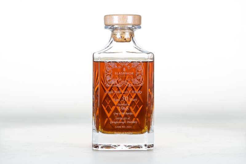 Blasmor是常瑞代理的IB品牌之一,這瓶的酒是購自Glenglassaugh格蘭格拉索酒廠,蒸餾年份1968年,桶號#2231。(圖/常瑞提供)