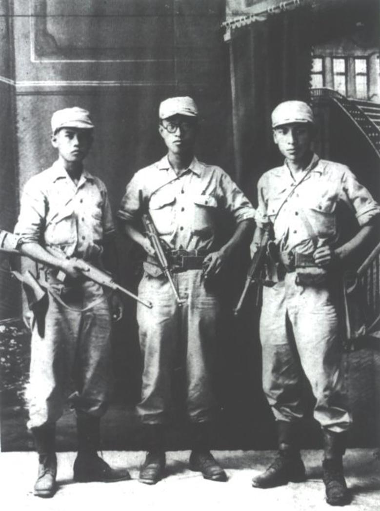 太平洋戰爭爆發後,韓國光復軍接受美國戰略情報局支持,投入印緬還有華北戰場上的情報作戰,制服也越來越偏向美式風格。(圖片由作者提供)