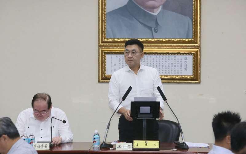 經過罷韓震撼,江啟臣還有高市長補選硬仗要打。(柯承惠攝)