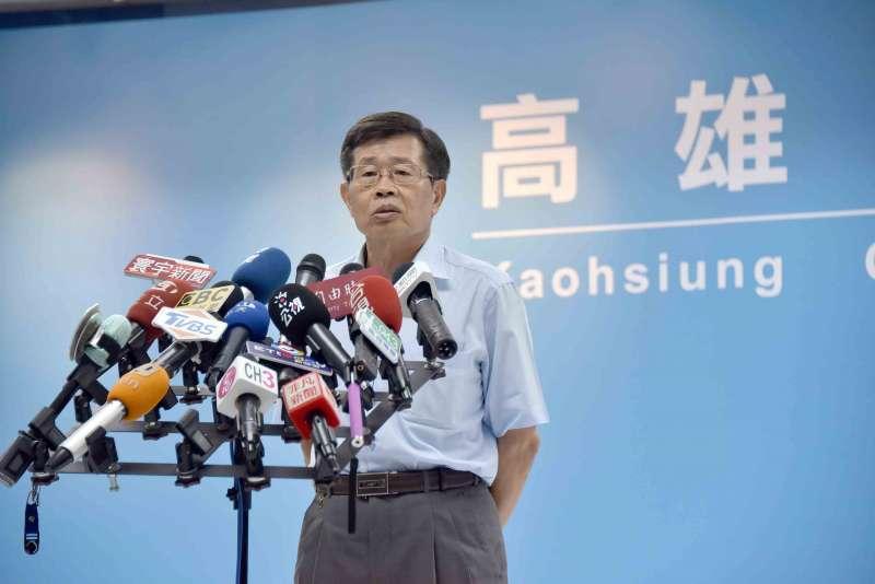 20200612-韓國瑜正式解除高雄市長職務,由曾任副市長的楊明州接任代理市長。(高雄市政府提供)