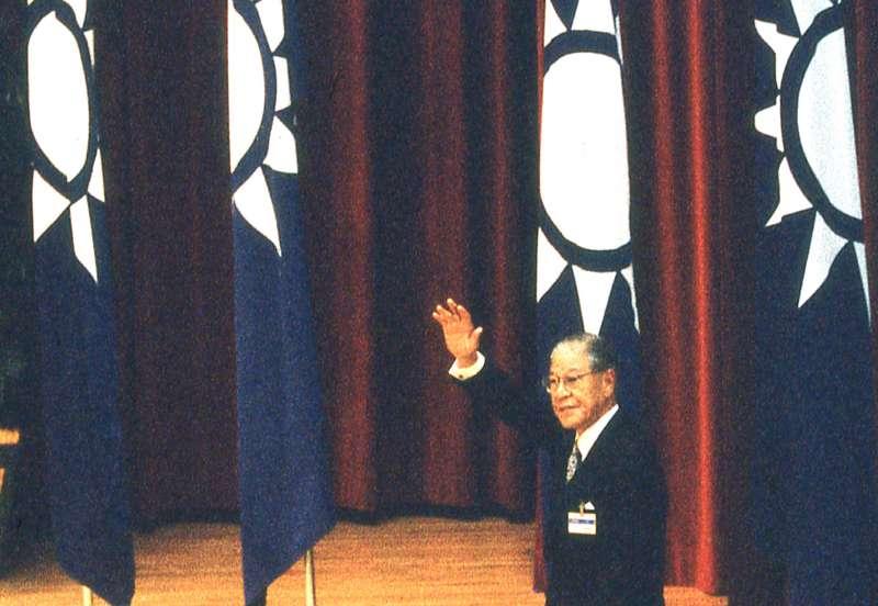 李登輝在十四全閉幕致詞時,呼籲黨內要團結。(新新聞資料照)