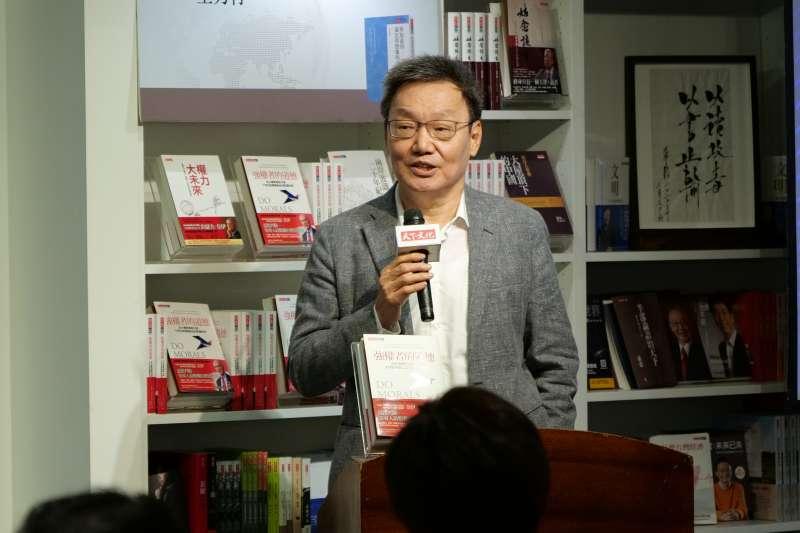20200617-蘇起出席《強權者的道德》新書座談會,談台美中關係的未來。(天下文化提供)