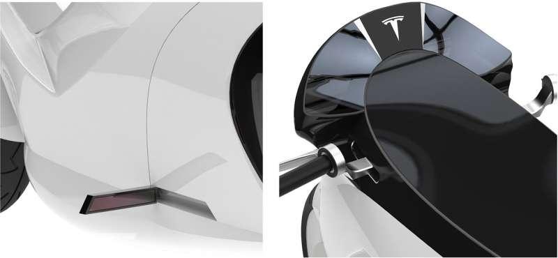 圖四、感應式踏板和數位後視鏡,科技感十足。(圖/取自Motoservices)