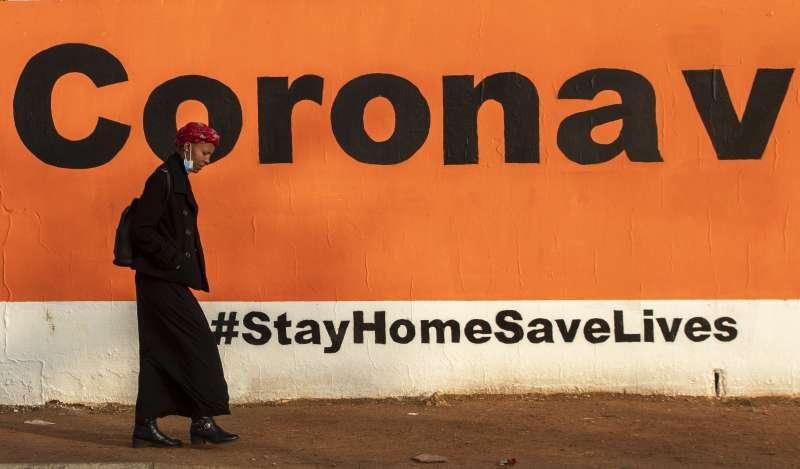 在新冠肺炎肆虐之際,南非猖獗的性別暴力問題亦引發關注。(AP)