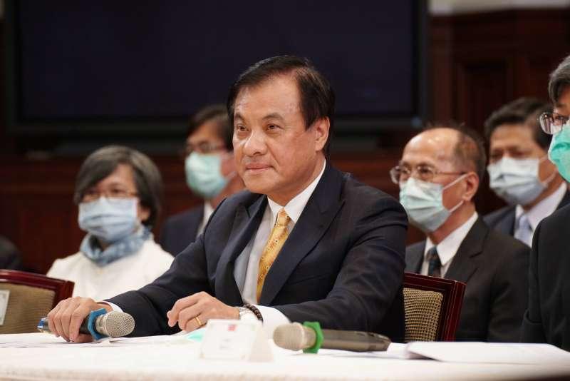 20200622-總統府22日舉行第6屆監察院被提名人記者會,秘書長蘇嘉全出席。(盧逸峰攝)