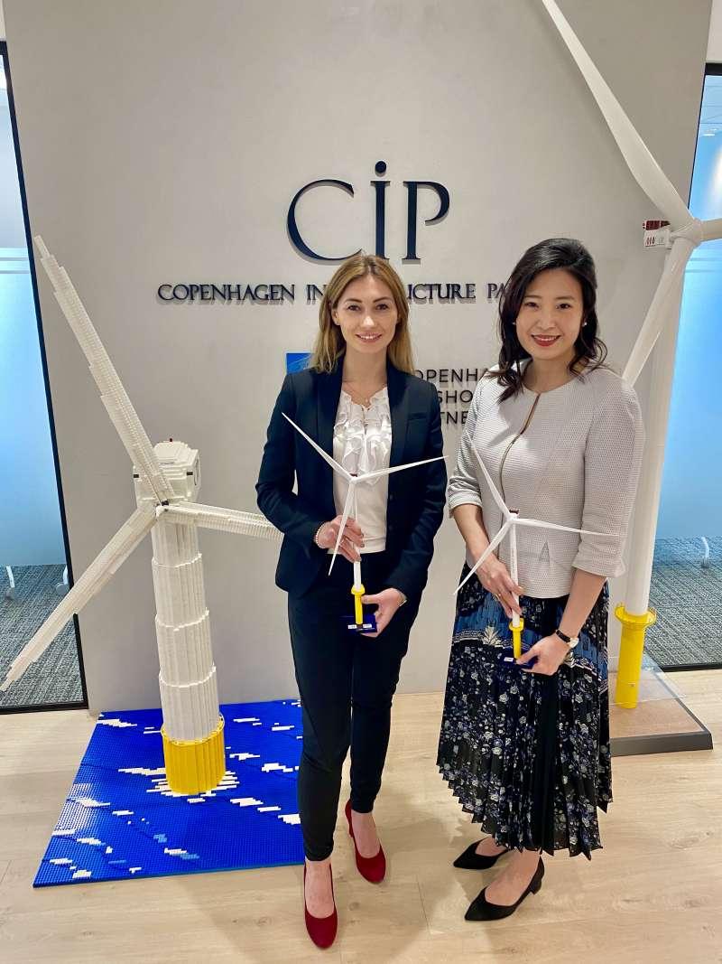 CIP 台灣區開發長許乃文與MVOW 台灣商務總監Maida Zahirovic 兩位台灣最高階女性領導人,分享第二階段潛力場址風機國產化成果,為後疫情時代拼經濟鳴第一槍。(圖/CIP提供)