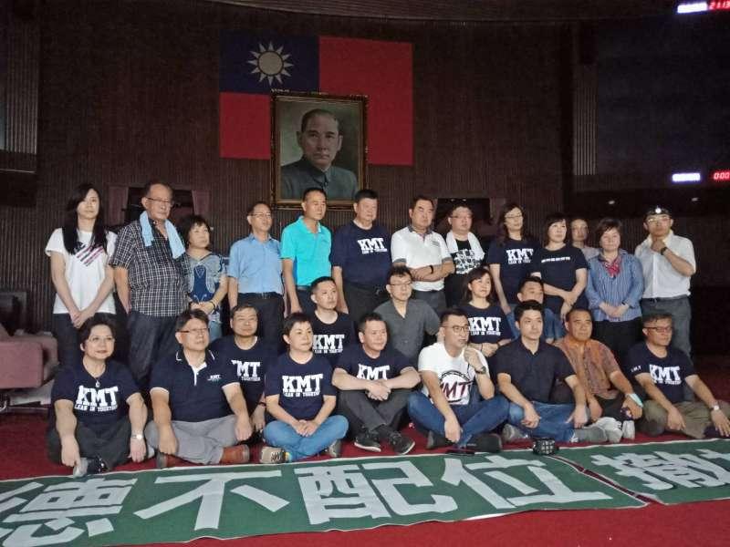 20200628-國民黨團占領立法院議場。(國民黨團提供)