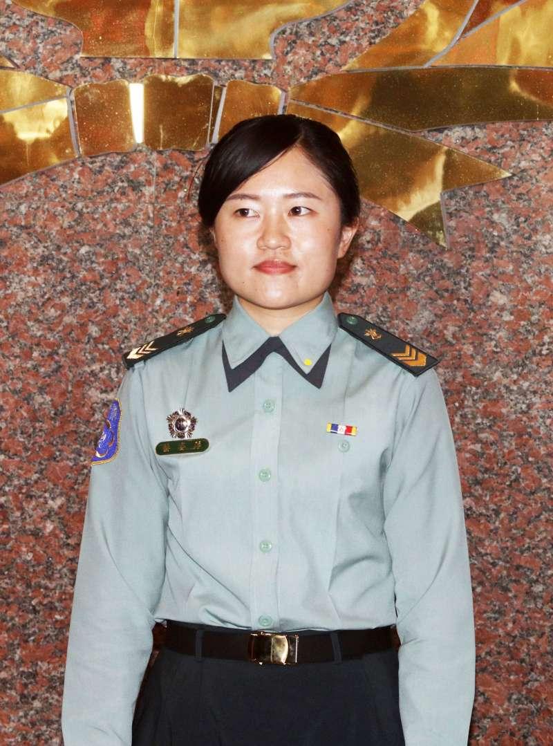 20200629-女中士蔡姿萍為支援最多天數的女性士官,119天支援85天。(蘇仲泓攝)kzkz1122