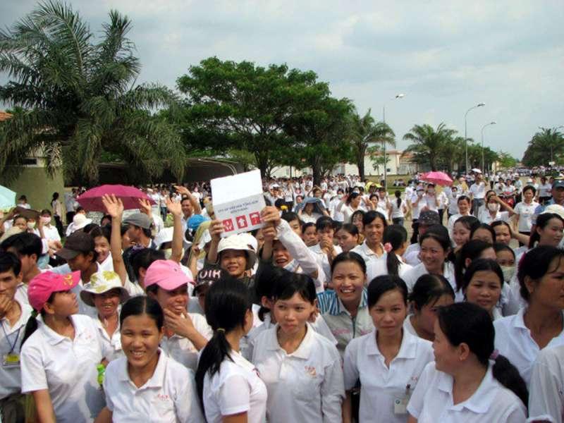 越南勞工罷工,是當地台商頭痛的問題。(美聯社)