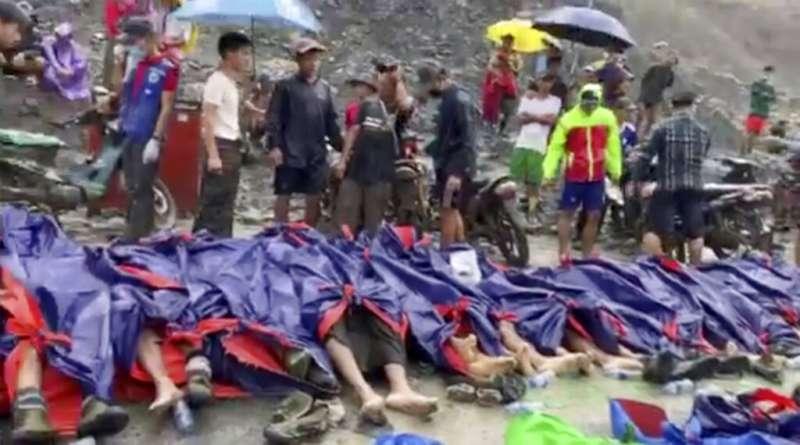 緬甸北部一處玉礦礦場2日發生坍方,目前已超過百具罹難者遺體。(美聯社)