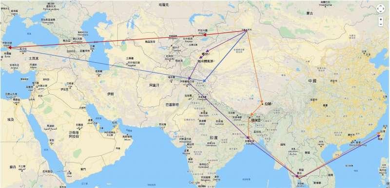 新疆大逃亡路線圖。(作者提供)