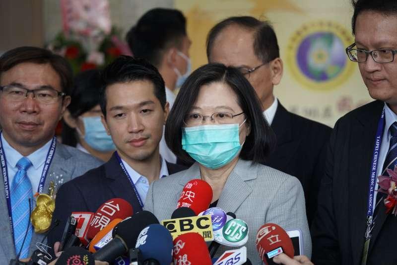 20200705-總統蔡英文5日出席國醫節開幕典禮。(盧逸峰攝)
