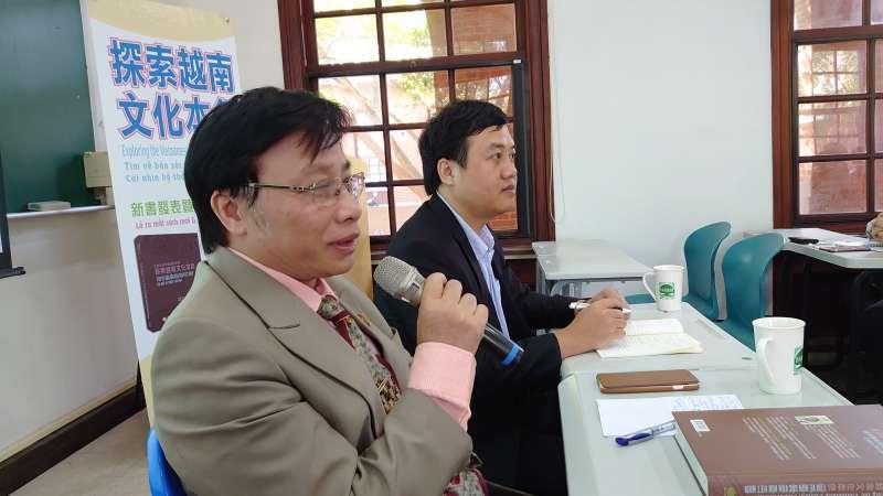 1陳玉添在《探索越南文化本色》台灣版新書發表會致詞。(圖片來源:作者提供)