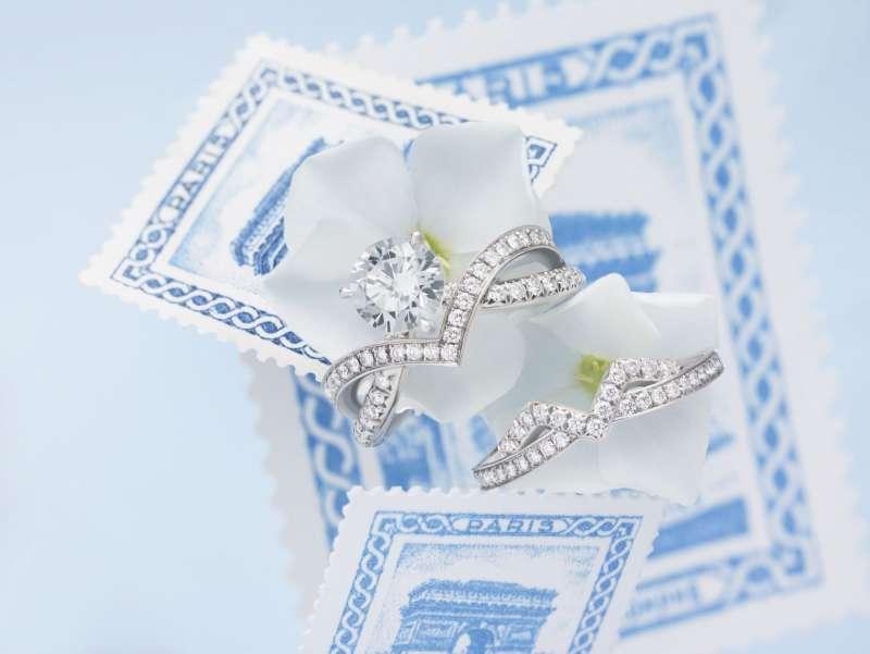 6Joséphine Amour d'aigrette鉑金鑽石戒指。(圖/Taiwan Tatler)
