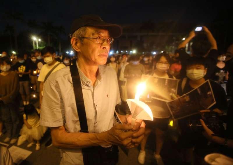 林榮基認為台灣可以做為光復香港的基地。(柯承惠攝)