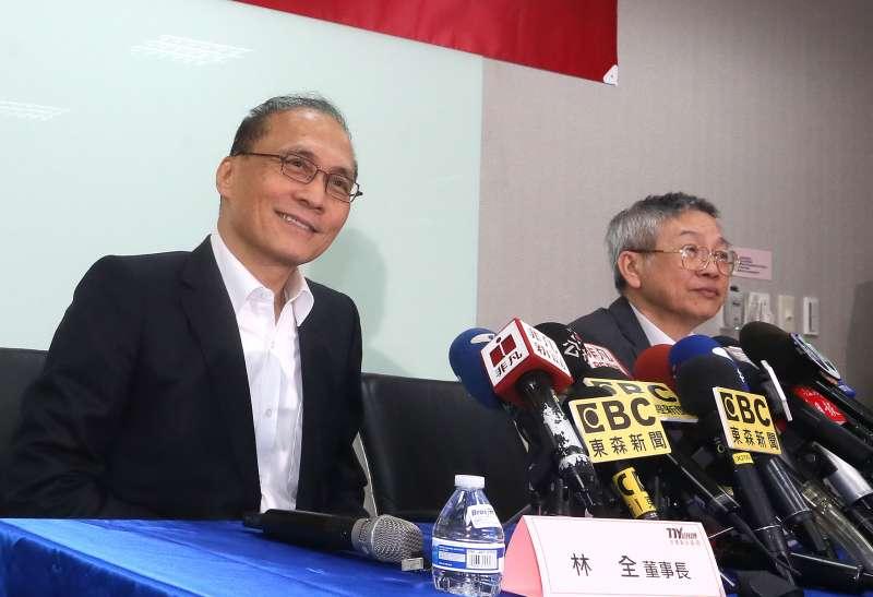 林榮錦雖兩度透過友人提和解,但東洋董事長林全(圖)認為完全沒看到對方的誠意。(柯承惠攝)