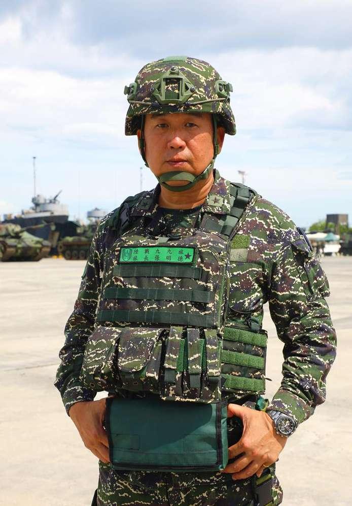 20200709-國軍漢光36號演習正式操演前,最後1次實施實兵實彈預演,圖為陸戰99旅旅長張明德。(青年日報社提供)