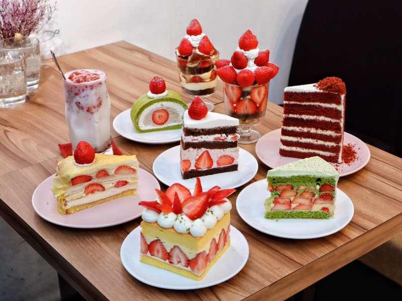 冬季時推出各式草莓品項的甜點。(圖/取自Sweet Tooth臉書)