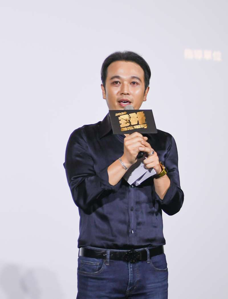 20200714-「台灣電影起飛大聯盟」14日舉辦成立記者會,威秀影城董事長吳明憲出席並致詞。(台灣電影起飛大聯盟提供)