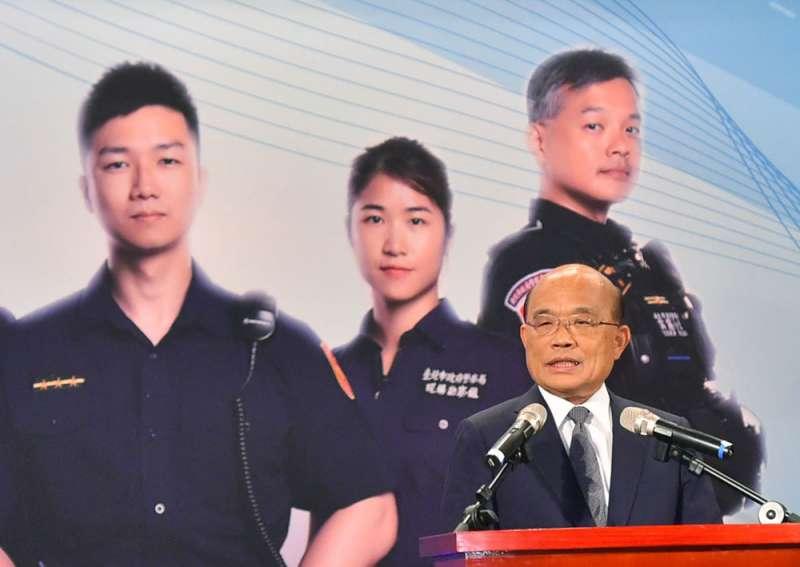 蘇貞昌怒換兩個地方警局局長,引發政界不少揣測。(行政院提供)