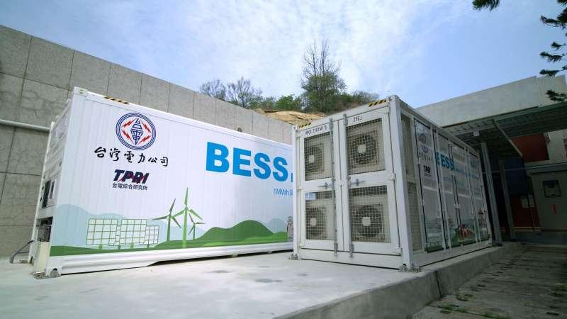 圖為金門夏興電廠儲能系統。(圖片來源/台電提供)