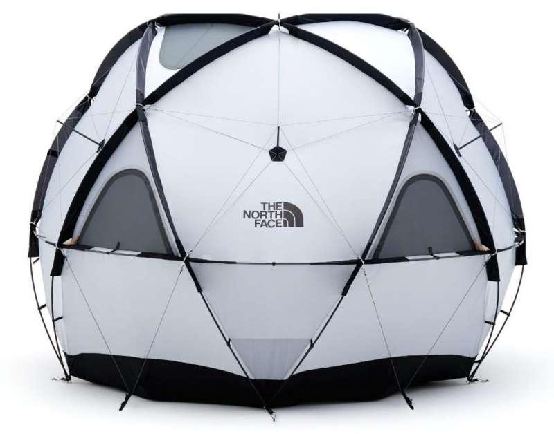 1為The North Face的圓頂幾何帳篷系列Geodome 4,總重11.07公斤,不僅雙層防水,反光布料可有效阻隔紫外線直射;外觀減少支架更容易組裝,還能承受每小時60英里的強風。(圖/網路溫度計)