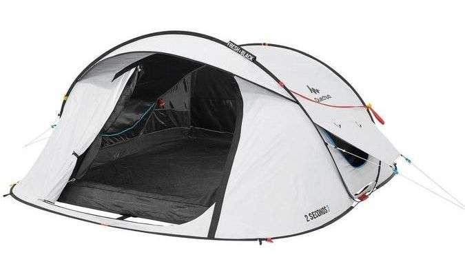 2沒錯,平價運動品牌迪卡儂(Decathlon)也有十分完整的露營設備用品,這款3人帳特點是幾分鐘就能組建完成,機動性十足。(圖/網路溫度計)