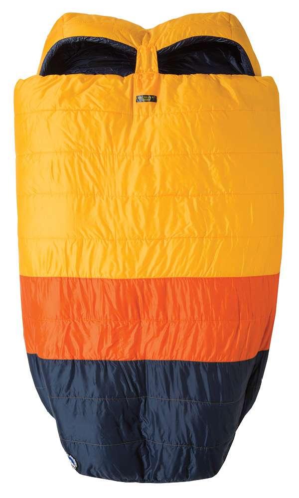 8Big Agnes這款雙人睡袋Big Creek 30˚充分體現有點黏又不會太黏的設計,睡袋中央加以間隔,就寢時不干擾又有安全感。(圖/網路溫度計)