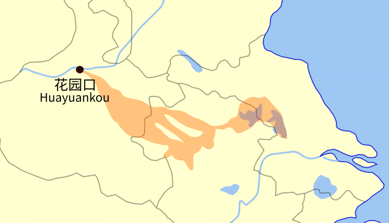 花園口決堤範圍(圖/維基百科)