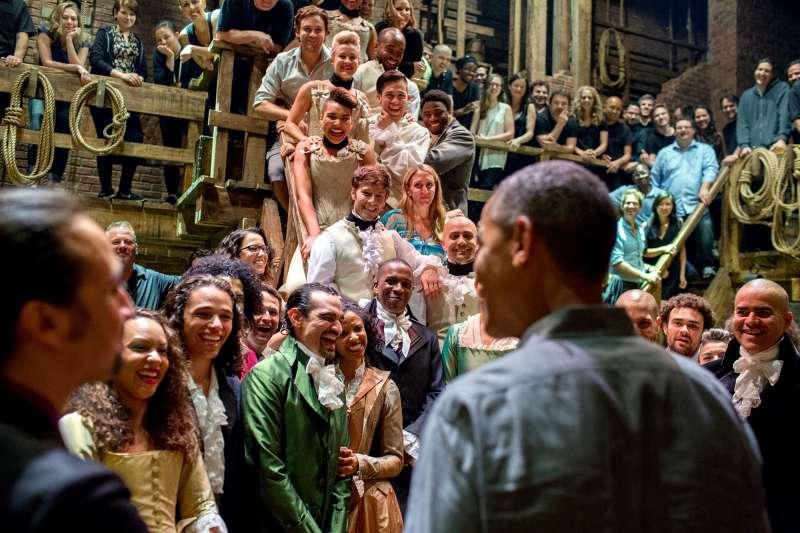 2015年前美國總統歐巴馬也曾親臨觀賞《漢米爾頓》音樂劇。(圖片來源:維基百科)