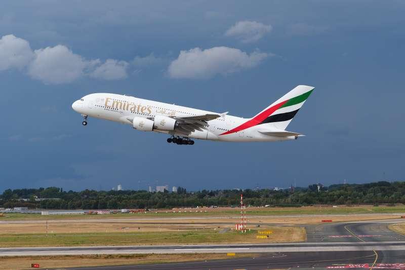 阿聯酋航空的空中巴士A380客機(Pixabay)